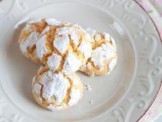 Fabulosa receta para Galletas craqueladas de calabaza. Unas galletas crujientes por fuera y tiernas por dentro. Y sin huevo.
