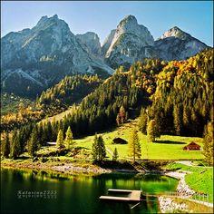 Magical lake, Gosausee, Austria