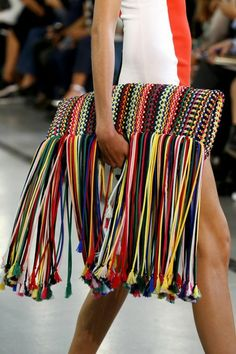 133 Standout Bags From the Spring/Summer 2017 Collections Emilio Pucci - My Accessories World Emilio Pucci, Crochet Clutch, Crochet Purses, Crochet Bags, Bags 2017 Trends, 2017 Ideas, Fashion Bags, Fashion Accessories, Bohemian Accessories