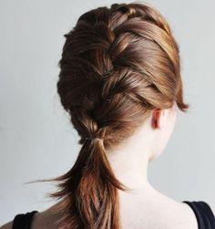 French braid hairstyle for medium hair