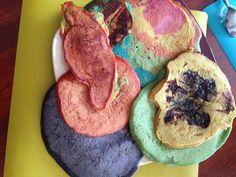 Regenbogenpfannkuchen