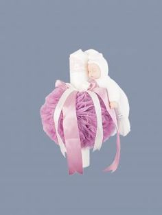 Lumanare botez decor tulle roz prafuit, dantela si bebelus
