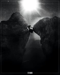 film noir style design of movie posters 127 hours