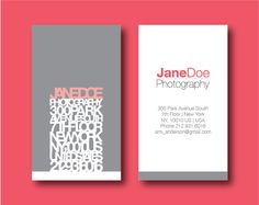 Modern Business Card - limen