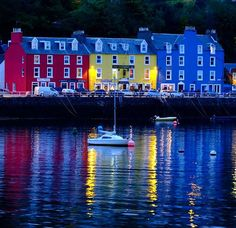 Twilight in the harbor of Tobermory on the Scottish Isle of Mull. photo by @danwestergren follow me there for more shots from this trip #ngexpeditions