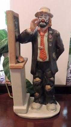 Emmett Kelly Jr Teacher Porcelain Figurine by by DLSpecialties Emmett Kelly, Clowns, Jr, Poetry, Porcelain, Bring It On, Teacher, Trending Outfits, Figurine