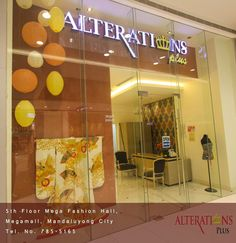 """Good Day! Visit our chic looking Alterations Plus store in SM Mega Fashion Hall! We'll take care of your garments that will definitely """"Suits you."""" for more information, visit our website @ alterations-plus.com."""