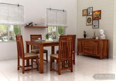 #AdolphDiningSet make an ideal and contemporary dining setting ! Square #jali cut table and chairs giving the dining space a vivacious look.  Made from pure #sheeshamwood and available in different crowning finishes.  #solidwoodfurniture #diningset #diningtable #homefurniture #diningroomfurniture  See it yourself: https://goo.gl/8kcLt2