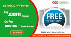 AGM Web Hosting Celebrate India's 67th Republic Day- Discounts on every purchase with AGM Web Hosting.Com You can use - Coupon Code AGM40 and get Extra 40% Off on Multi Domain Hosting, Book your .in Domains @ just Rs.99 For more detail call me +91 8010184771/ +91 11 26041201 or Visit- http://www.agmwebhosting.com