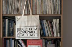 Biblioteca Comunale di Minerbio brand identity by Andrea Guccini #InspoFinds