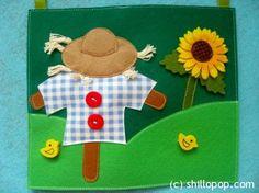 """Развивающие игрушки от Shill O'POP » Развивающая книжка """"В Деревне"""" Quiet book"""