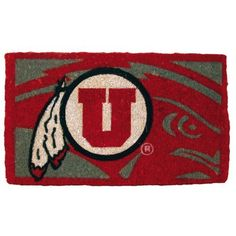 """30"""" NCAA Utah Utes Football Cyclones Authentic Logo Indoor Outdoor Welcome Mat by Evergreen. $54.99. Utah Utes Welcome MatItem #0007L684OFFICIALLY LICENSED MERCHANDISEWelcome mat features the authentic logo for the Utah Utes college football team in brightly colored natural fibersFor indoor and outdoor use Dimensions: 18 L x 30 W x 1 H Material(s): Natural fiber"""
