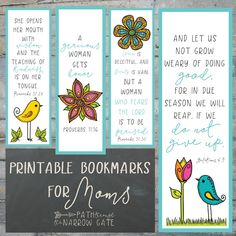 These charming printable bookmarks for moms come in four Bible versions and full color or black and white. They are perfect for classroom or home use. Free Printable Bookmarks, Bookmarks Kids, Printable Bible Verses, Bible Bookmark, Bookmark Craft, Bookmark Ideas, Verses For Teachers, Bible Verses About Mothers, Globe Crafts