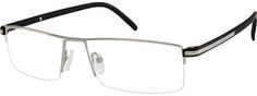 7507 Stainless Steel Half-Rim Frame with Plastic Temples-AvLyrUXT