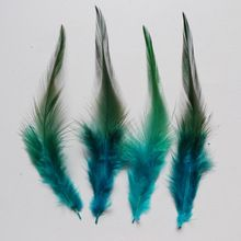 Cheap ! 50 pcs 4-6'/10-15cm Sky Blue Chicken Rooster Cock Feather For Clothing Jewelry Making Decoration Pheasant Plume(China (Mainland))