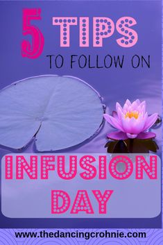 If you have Crohn's Disease, Ulcerative Colitis, or any form of autoimmune disease or chronic illness, these 5 tips are essential to know for infusion days! Crohns Disease Diet, Crohn's Disease, Disease Symptoms, Autoimmune Disease, Stress Relief Exercises, Ulcerative Colitis, Invisible Illness, Crohns Recipes