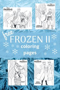 New Free Printable Frozen 2 Coloring Pages - Classy Mommy Farm Coloring Pages, Frozen Coloring Pages, Summer Coloring Pages, Free Printable Coloring Pages, Free Coloring, Coloring Books, Free Printables, Frozen Activities, Therapy Activities