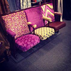 How snazzy @sunburydesign love the combo #upholstery #bespoke #stripeinteriors