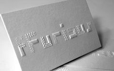 fFurious Namecardsm - blind letterpress, from the looks of it.