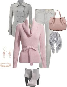 """""""Pink - no contrasts"""" by glinwen ❤ liked on Polyvore"""