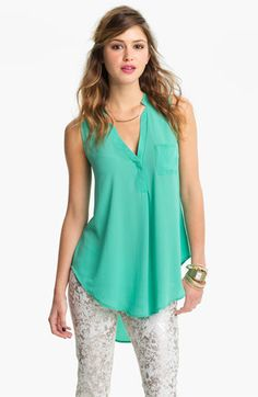 Lush Flowy Tunic Shirt (Juniors) available at Nordstrom