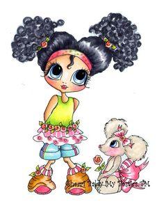 Sherri Baldy Besties | My-Besties Brittany & Mouse Fine Art Print-my besties, sherri baldy ...