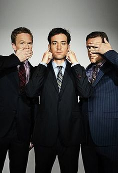 Neil Patrick Harris, Josh Radnor, and Jason Segel- how I met your mother- I love these guys Ted Mosby, How I Met Your Mother, I Meet You, Just For You, Josh Radnor, Josh Duhamel, Neil Patrick Harris, Bd Comics, Serge Gainsbourg