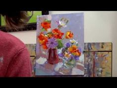 Oil Painting a ٍSimple Still Life Roses By yasser fayad  ياسر فياض - YouTube