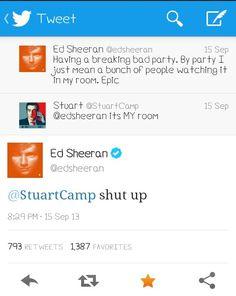 So sassy! Ed Sheeran♥