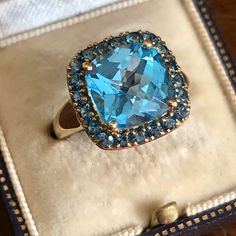 Excited to share this item from my shop: Topaz Gold Ring, Vintage Topaz Ring, Blue Topaz Ring Antique Rings, Antique Jewelry, Vintage Jewelry, Vintage Pins, Jewelry Gifts, Fine Jewelry, Gem Shop, Topaz Jewelry, Valentines Gifts For Her