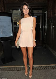 Lucy Mecklenburgh, best known for her appearances in The Only way is Essex, steps out for dinner in Manchester on Saturday evening