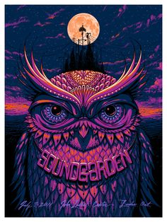 Damn, this Jeff Soto poster for Soundgarden is hot!