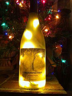 Dave Matthews Dreaming Tree wine bottle lamp. $20.00, via Etsy.@Daniella Lynn