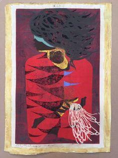 Red Coat by Tadashi Nakayama Design Seeds, Tadashi, Paint Designs, Figurative Art, Printmaking, Coat, Drawings, Illustration, Red