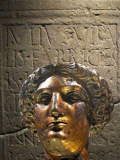 Head of Sulis Minerva, Roman Baths, Bath, UK.