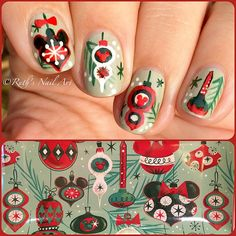 christmas disney nails ruthsnailart nailart - Disney Christmas Nails