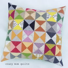 Hour Glass Pillow from Amanda Jean @ crazy mom quilts blog. Such a cute pillow.
