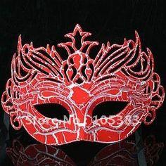 red masquerade mask