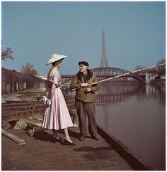 Robert Capa, [Model wearing Dior on the banks of the Seine, Paris], 1948. © Robert Capa-International Center of Photography-Magnum Photos