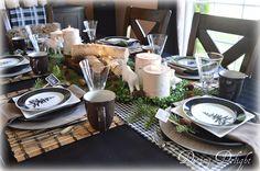 Dining Delight: Father's Day Woodland Tablescape