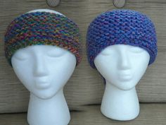 Head bands made on round purple loom