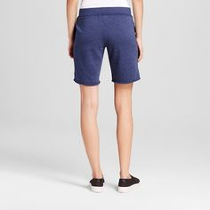 Women's French Terry Bermuda Shorts Navy (Blue) XS - Mossimo Supply Co.