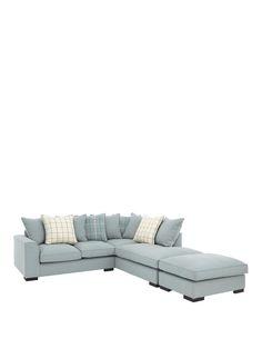 Croft Right-Hand Fabric Corner Chaise Sofa Pipe Furniture, Black Furniture, Furniture Upholstery, Colorful Furniture, Furniture Chairs, Chaise Sofa, Upholstered Furniture, Couch, Fabric Sofa
