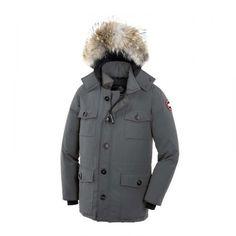 Outlet Ny Canada Goose Banff Parka Grå Herre Canada Goose Jakke Mænd tilbud DK