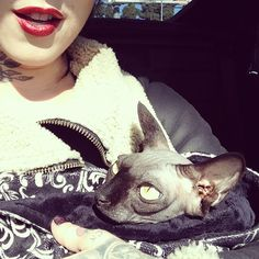 Look who came w me to @highvoltagetat today!  #Piaf [January 10th, 2013]