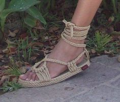 Handmade Cleopatra All Rope Sandals in Dark Beige Rope Sandals, Gladiator Sandals, Dark Beige, Vintage Marketplace, Cleopatra, Online Clothing Stores, Selling Online, Barefoot, Handmade