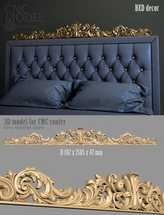 BED ط cnc router furniture Luxury Bedroom Design, Bedroom Bed Design, Bedroom Furniture Design, Bed Furniture, Home Decor Bedroom, Cardboard Furniture, Bed Headboard Design, Headboards For Beds, Home Confort