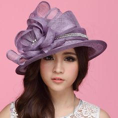Vintage Women Hat Sinamay Hat Church Hat Sinamay Rose Sinamay Fabric  Handmade Ladies  Haircord Sinamay Hat With Stones Feathers Hat Fashion f554053a3047