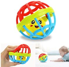 Baby Newborn Little Loud Jingle Rattle Rolling Ball Ring Bell Grasp Toy Cute LD