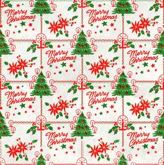 Vintage Merry Christmas page